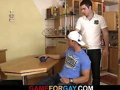 Swarthy neighbor is very hot for gay gay