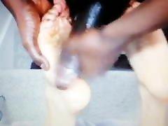 Bbc cum on my feet