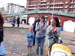 Free the nipple topless demo in Brighton England