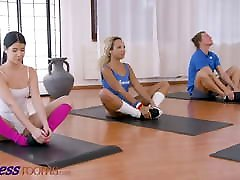 Fitness Rooms, Lexi Dona shares fit muslim girl forced anal girl Romy Indy