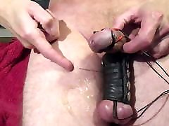 Huge thick hands-free cumshot