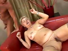 Hairy Little Titted drilling black pussy in Stockings Fucked