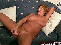 german girl bred mom masturbate with huge dildo at porn casting