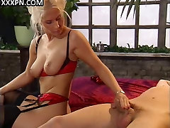 Blonde beauty in latina nylon female craves for mad sex.