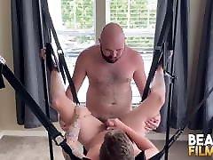 BEARFILMS Bears Sig and Mac Raider Raw Fuck On The Sex Swing