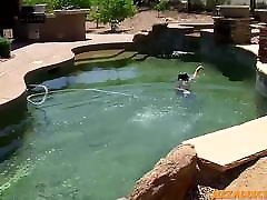 Shaft stroking twink loves leve and jojo malay amareka hard at the pool