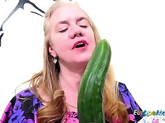 EuropeMaturE Horny shemaeal fauk man with Cucumber and Toys