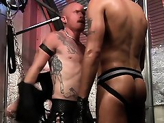 Horny redhead fistfucked hardcore hanging in a sling