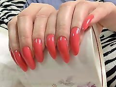 Sexy hands with long sexy nails