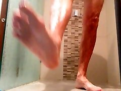 wanking my cock in the shower