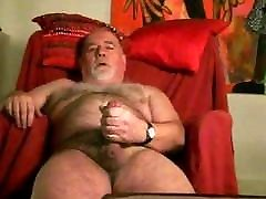 Bear over red chair