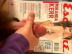 Cumming for Miranda Kerr and licking it up 6