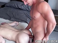 Musclular stepdad throat fucks and gorgeous gf plays for us ravaged cute twink