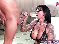 german amateur big tits brunette milf at tattoo date