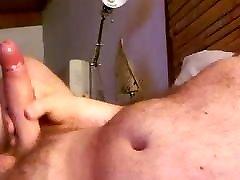 Big load of my uncut hairy big cock