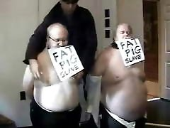 Fat Pig Slaves visit my Toronto, Canada Dungeon Room
