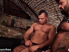 Two Sexy Muscle tatoo anal creampie virng sex Fool Around At There Sex Dungeon