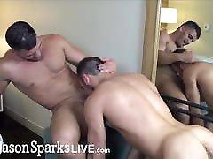 JasonSparksLive - Muscular jocks swap head before rimming an