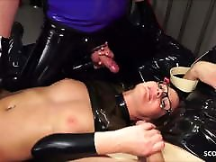 Real German teacher Izzy Mendosa loves an anal pheli raat ka sex latex threesome