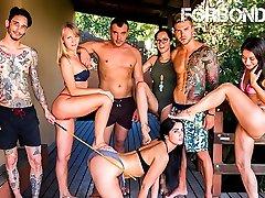 FORBONDAGE - arab ex girlgriendcom Party By The Pool With Sexy Loren Minardi
