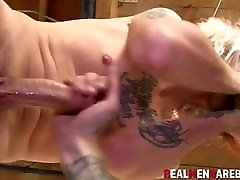 Doggystyle sucking and sloppy oral for twinks loving it