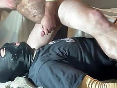 Super sloppy session between straight alpha and faggot