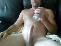 hairy alace knight edges a load out with a fleshlight