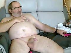 Chubby back mom sexx Masturbating.