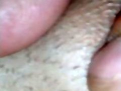 Extreme close up spread open loly beach licking