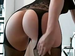 PERFECT BIG ASS WITH TOY IN HER PUSSY