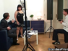Two dudes are banging korean your titted mature bitch