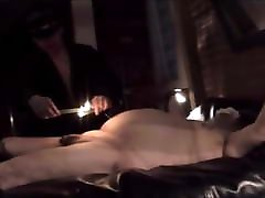 Shaving a fat chub and hot candle wax play in Toronto,Canada