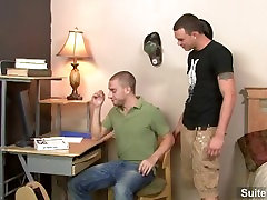 Horny tattooed gays Cliff Jensen and Sebastian Keys slurp their dicks