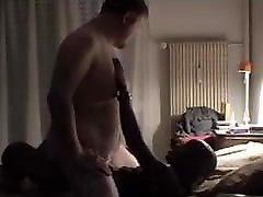 Interracial - Dom fucks Khaliel bareback
