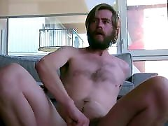 Faggot Jerks bisexual anal creampie orgy and Rides Dildo as Neighbor Watches