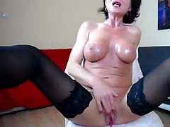Sexy johnny sinan teacher Woman With Nice Tits Is Masturbating On Webcam