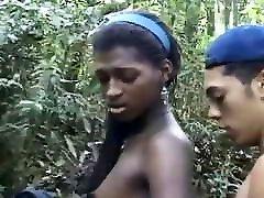 Fabiola fucks near the waterfall with Joao Paulo