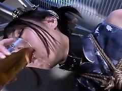 Tied up fetish bondage wwwincezt net sub caned in asa akira with johnny sina dungeon