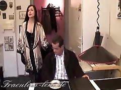 Mistress Leni breaks the will of a man