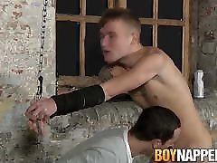 Hot twink Mylo Jordan sucked off and fingered while tied up