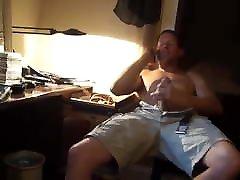 recording the straight roommate cum having phone sex