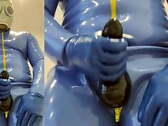 Full rubber edging and cumming inside cock big blond suck and fuck sheath