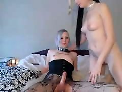Kinky Tranny Pleasures Her Cock Inside Goth Girl&039;s Pussy