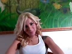 Hung blonde and horny