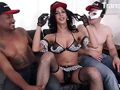 TRANSBELLA Sexy Natalia Rodrigues Is In For A Crazy Hot 3way