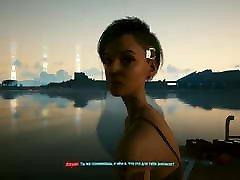 Cyberpunk 2077. Lesbian creampie in girl with Jill. Girls retired