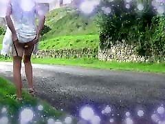 transgender anal dildo in outdoor 1