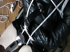 Straitjacketed slave is in wheelchair - 3