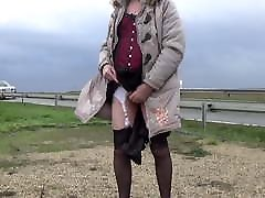 transgender travesti sounding brutal fisting pain outdoor road 7a