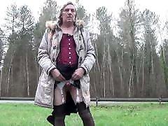 transgender travesti sounding urethral outdoor road 9a